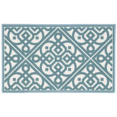Waverly Fancy Free And Easy Lace It Up Teal Area Rug By Nourison