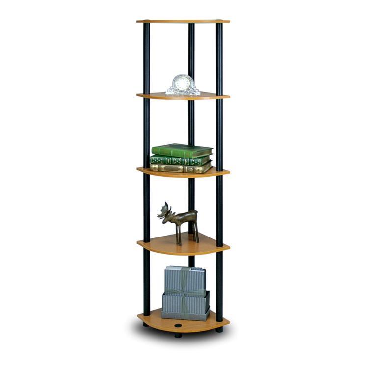 Furinno Turn-N-Tube Corner Display Rack Multipurpose Shelving Unit