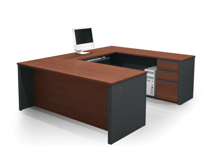 Bestar Prestige + U-Shaped Workstation Kit