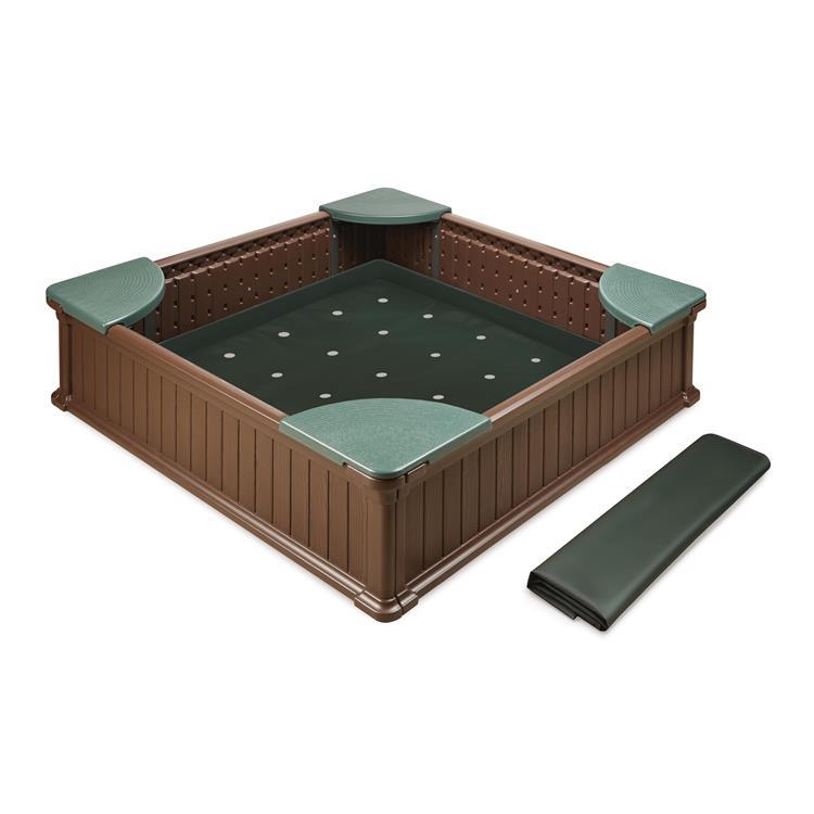 Badger Basket Woodland 2-in-1 Sandbox and Garden Planter