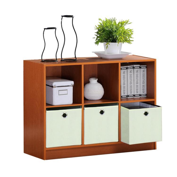Furinno Basic 3X2 Bookcase Storage With Bins