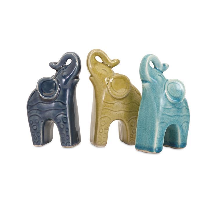 Barinas Elephant Statuaries - Assorted 3