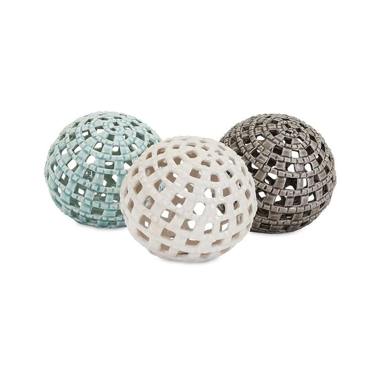 Imax Outer Banks 3 Piece Sphere Sculpture Set