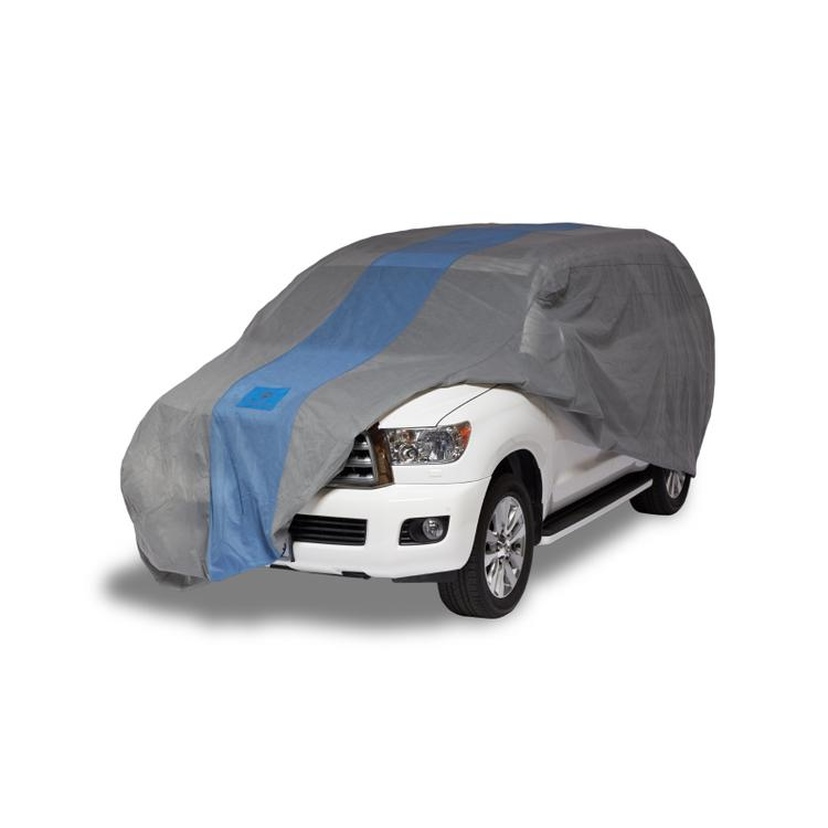 Duck Covers Defender SUV/Truck Cover, Fits SUVs or Full Size Trucks with Shell or Bed Cap up to 19 ft. 1 in. L