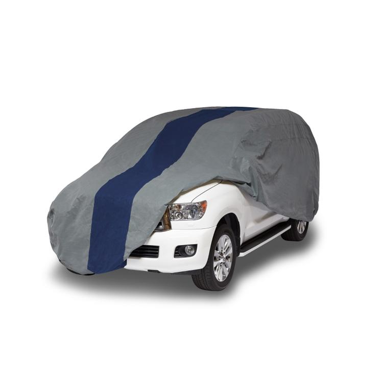 Duck Covers Double Defender SUV/Truck Cover, Fits SUVs or Full Size Trucks with Shell or Bed Cap up to 19 ft. 1 in. L