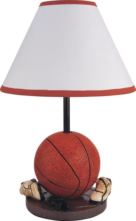 Milton Green Stars 15.75-Inch Antique Resin Youth Basketball Table Lamp
