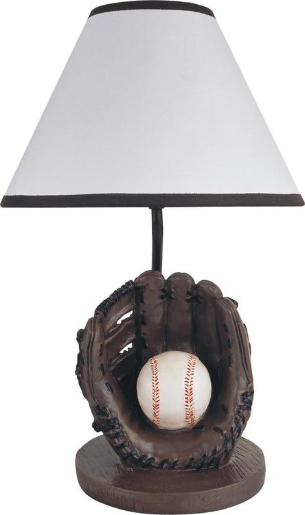 Milton Green Stars 15.75-Inch Antique Resin Youth Baseball Table Lamp