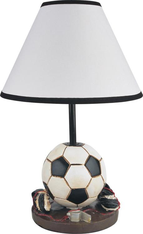Milton Green Stars 15.75-Inch Antique Resin Youth Soccer Table Lamp