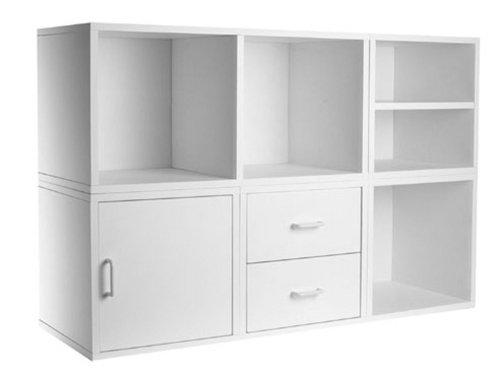 5-IN-1 Modular Storage System White