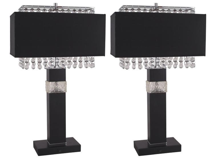 Milton Green Stars Rachel Elegant 26-Inch Table Lamp (Set of 2)