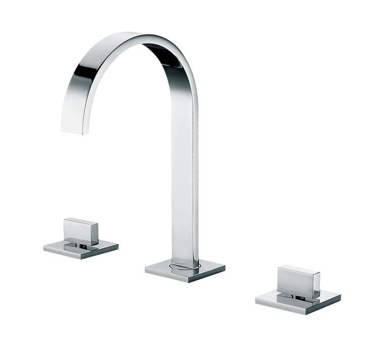 ALFI brand AB1336-PC Polished Chrome Gooseneck Widespread Bathroom Faucet