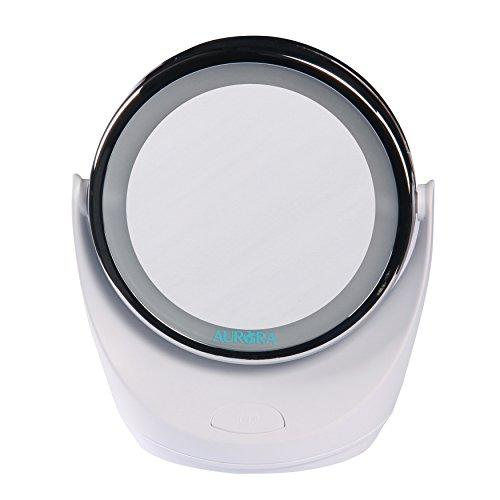 AURORA 5X LED LIGHTED PERSONAL VANITY/MAKEUP MIRROR - [AB302]