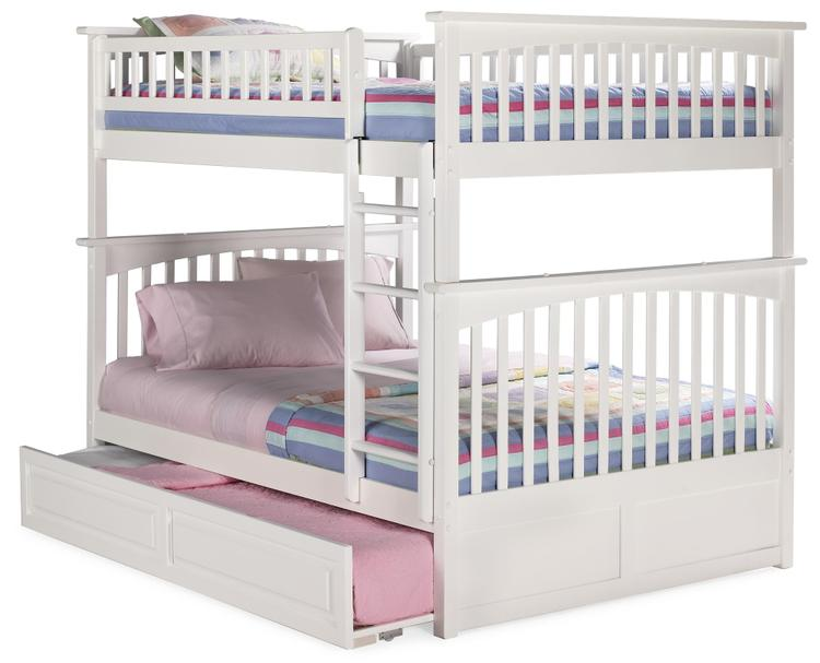 Columbia Bunk Full/Full with Trundle