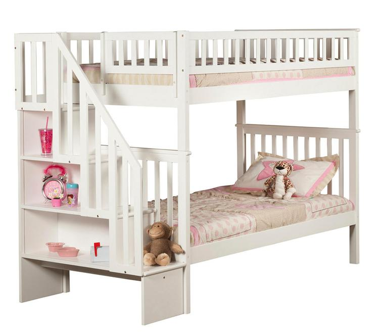 Woodland Staircase Bunk Bed Twin over Twin