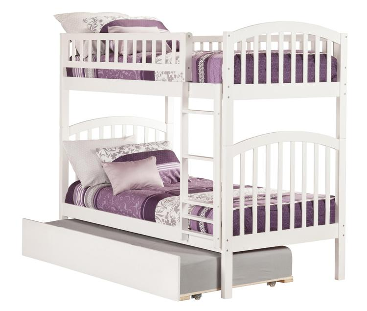Richland Bunk Bed with Urban Trundle Bed