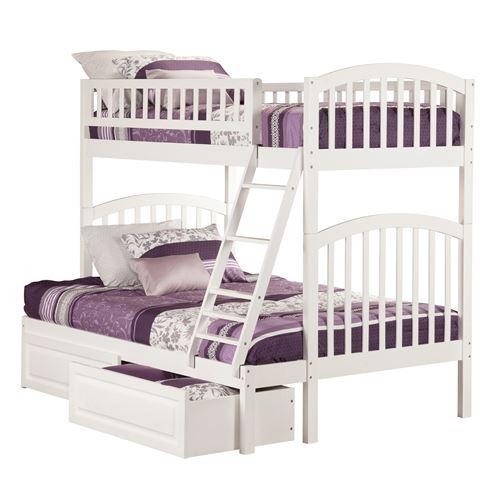 Richland Bunk Bed Twin over Full with Raised Panel Bed Drawers