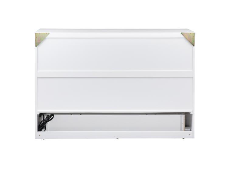 Atlantic Furniture Deerfield Murphy Bed Chest Queen White with Charging Station