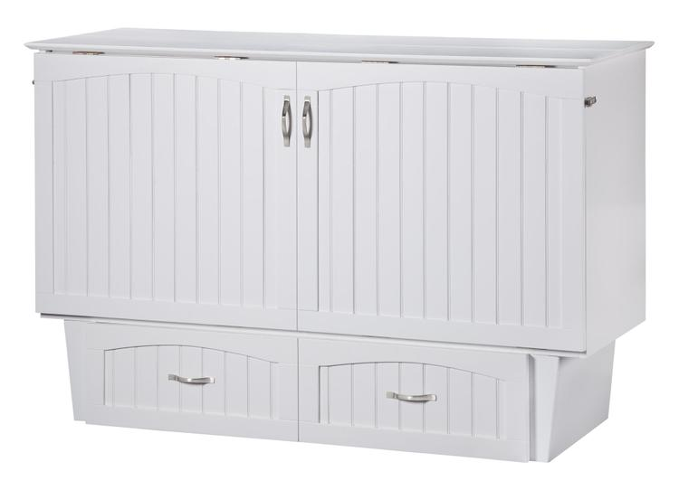Nantucket Queen Murphy Bed Chest in White