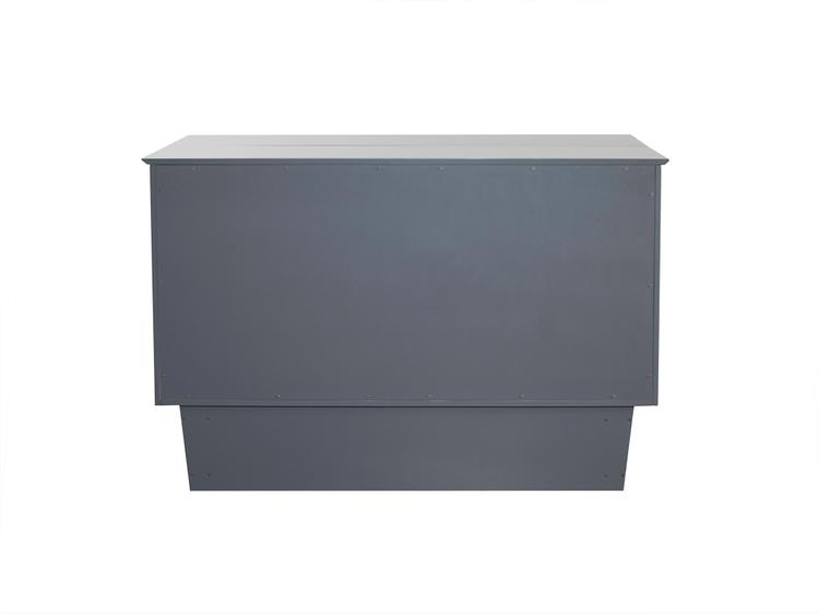 Atlantic Furniture Nantucket Murphy Bed Chest Queen Grey with Charging Station & Cool Soft Mattress [Item # AC5940009]