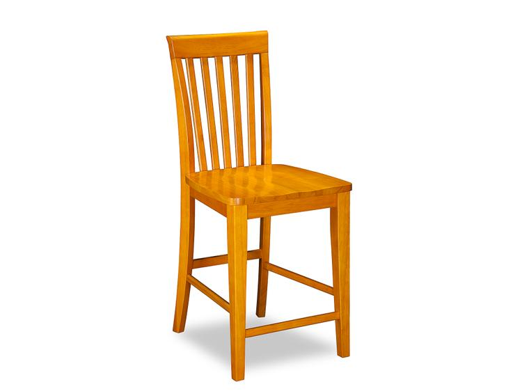 Mission Pub Chairs Set of 2 with Wood Seat