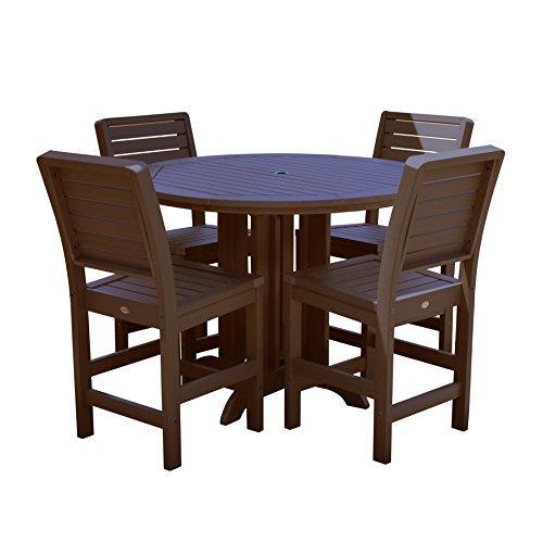 Highwood Furniture Weatherly 5pc Round Counter Dining Set