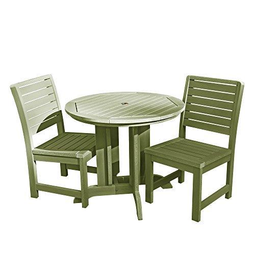 Weatherly 3pc Round Dining Set