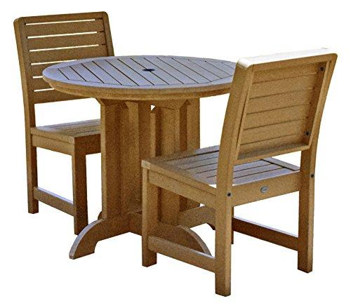 Highwood Furniture Weatherly 3pc Round Dining Set