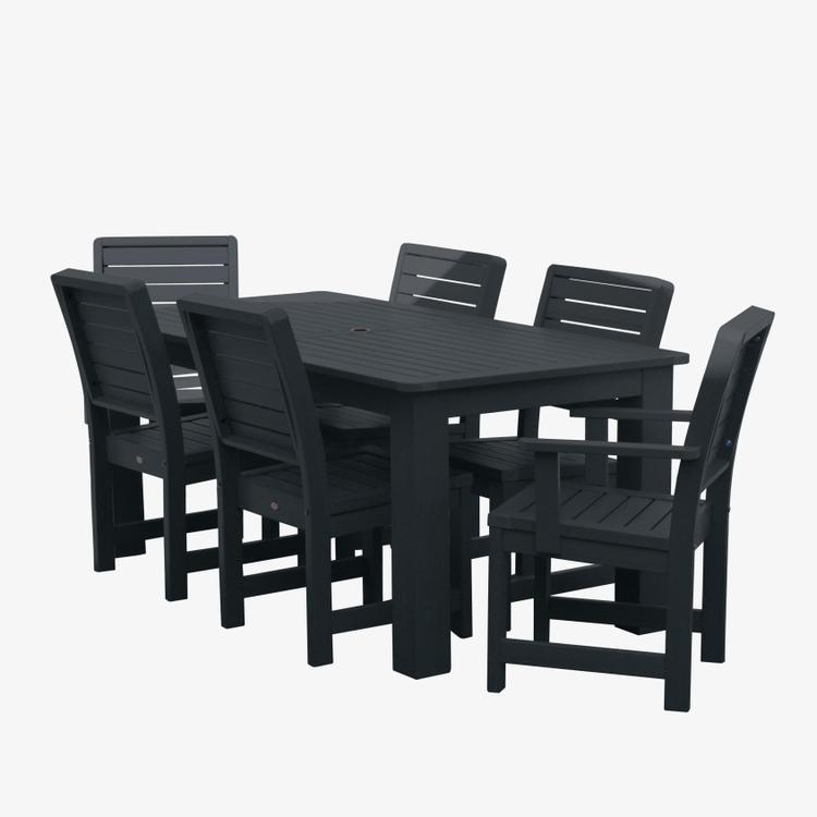 Highwood Furniture Weatherly 7pc Rectangular Dining Set