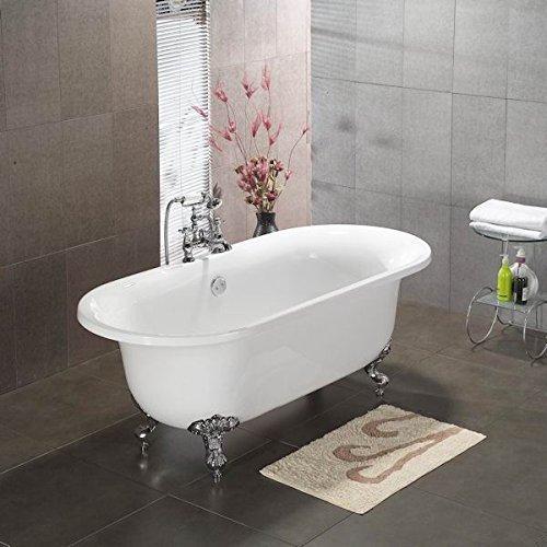 Acrylic Double Ended Clawfoot Bathtub 70