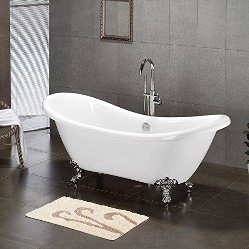 Acrylic Double Ended Clawfoot Bathtub 68