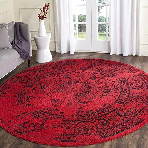Traditional Rug - Adirondack Polypropylene -Red/Black
