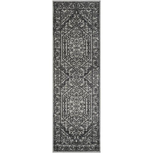 Traditional Rug - Adirondack Polypropylene -Silver/Black
