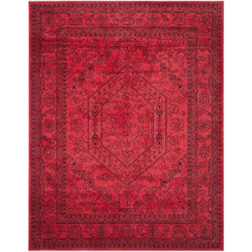 Traditional Rug - Adirondack Polypropylene -Red/Black