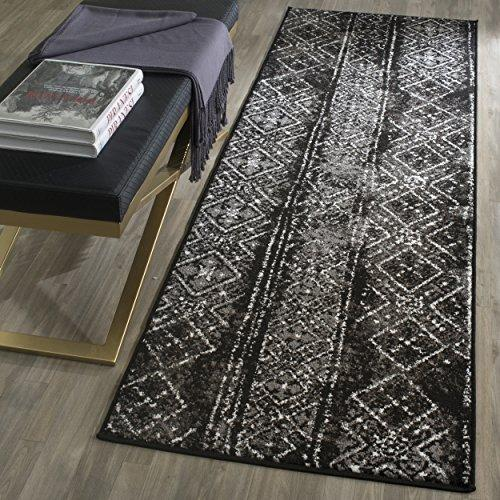 Contemporary Rug - Adirondack Polypropylene -Black/Silver