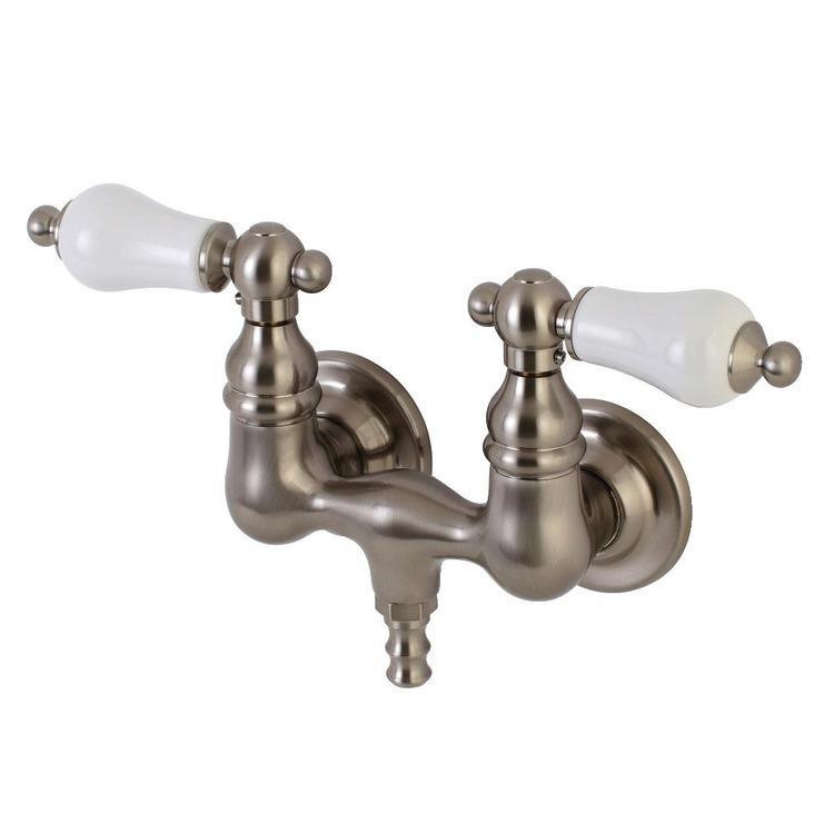 Aqua Vintage AE35T8 Wall Mount Clawfoot Tub Faucet, Brushed Nickel