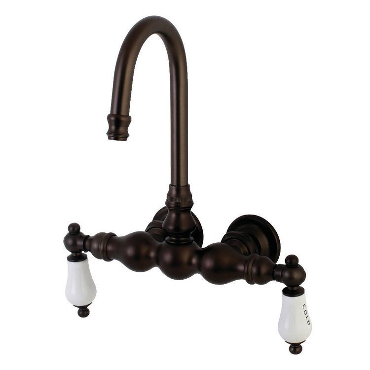 Aqua Vintage AE3T5 Wall Mount Clawfoot Tub Faucet, Oil Rubbed Bronze