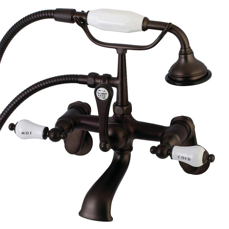 Aqua Vintage AE53T5 Clawfoot Tub Faucet with Hand Shower, Oil Rubbed Bronze