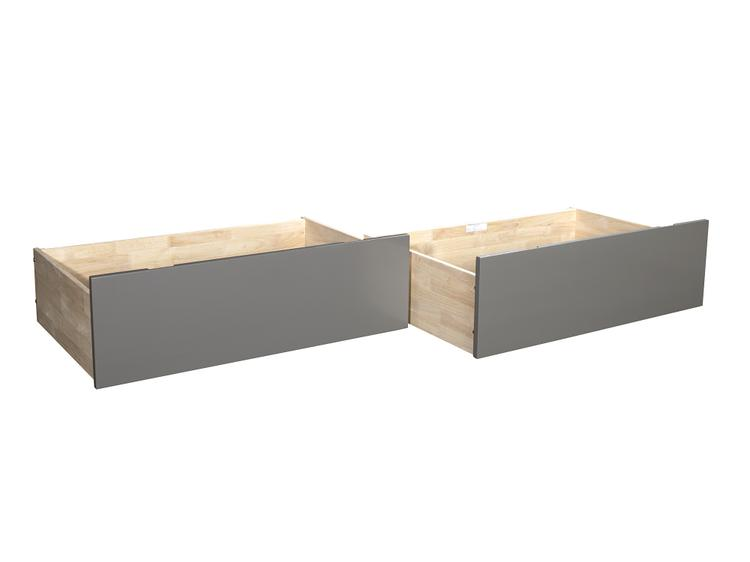 Atlantic Furniture Urban Bed Drawers Queen-King Grey