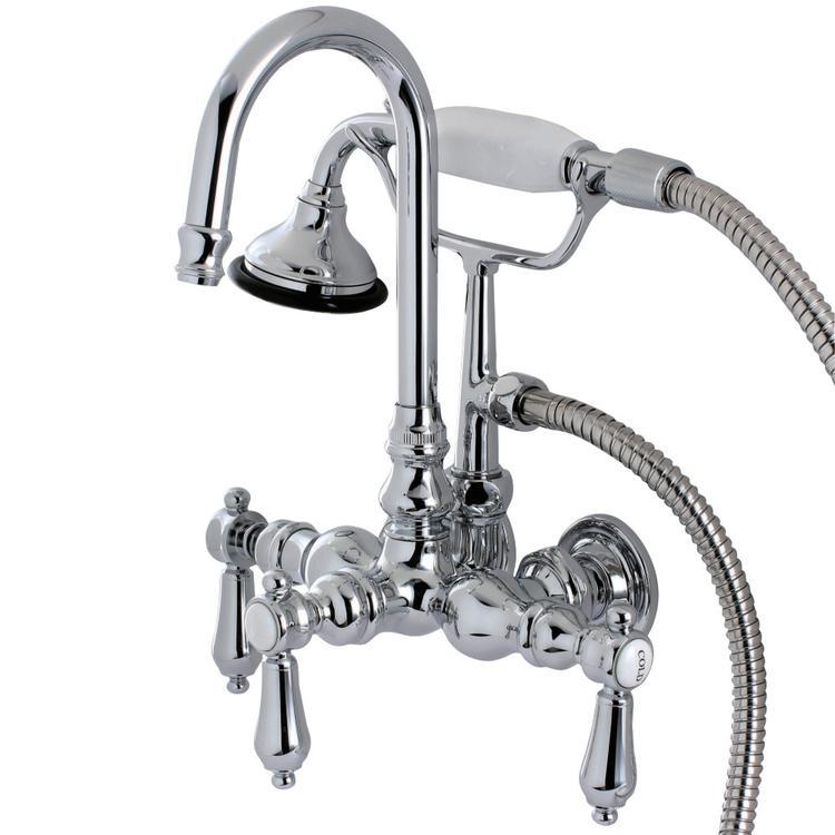 Aqua Vintage AE8T1BAL Bel Air Wall Mount Clawfoot Tub Faucet, Polished Chrome