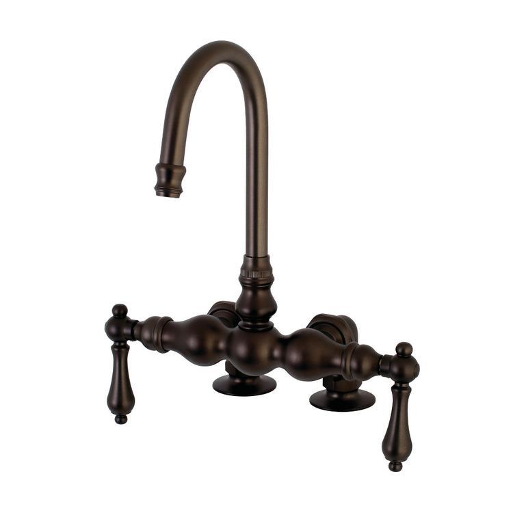Aqua Vintage AE91T5 Deck Mount Clawfoot Tub Faucet, Oil Rubbed Bronze