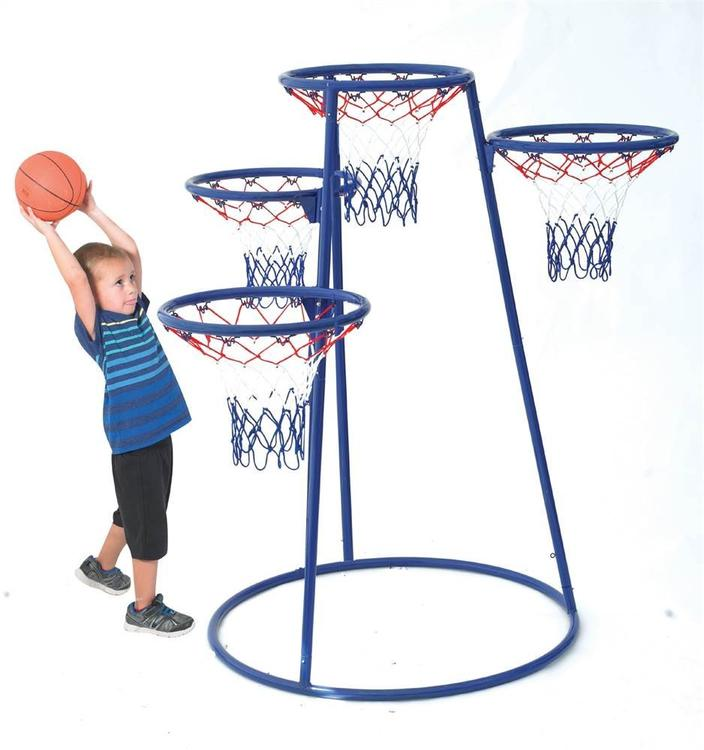 Children's Factory 4-Rings Basketball Stand with Storage Bag [Item # AFB7950]