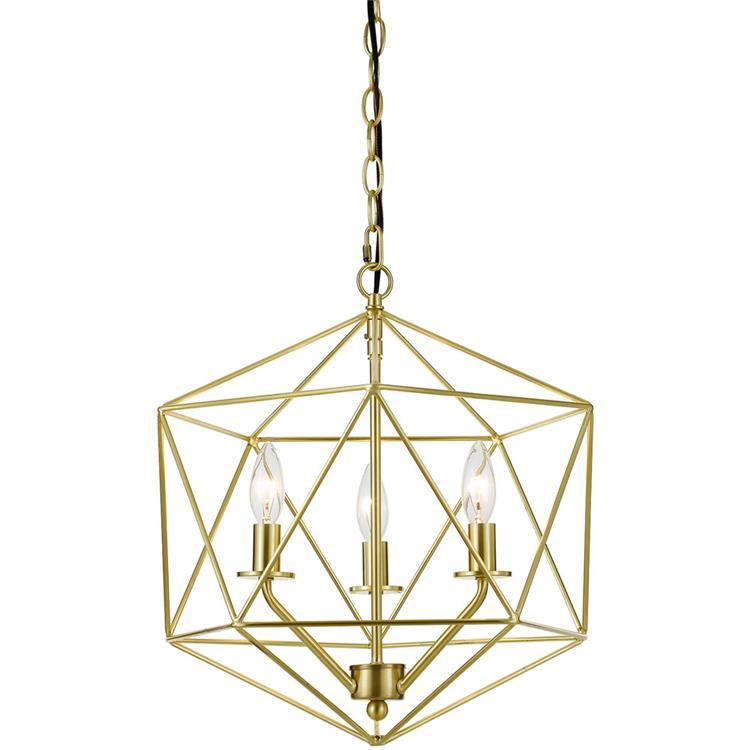 AF Lighting Bellini Three-Light Chandelier in Brushed Nickel