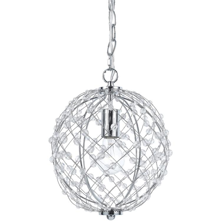 AF Lighting Small Round Silver Web Pendant