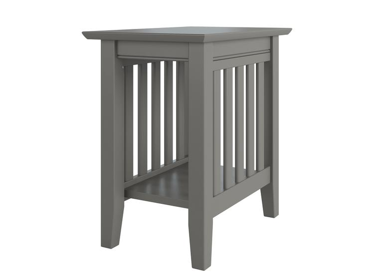 Atlantic Furniture Mission Chair Side Table Grey