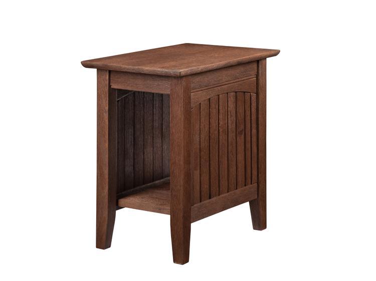 Atlantic Furniture Nantucket Chair Side Table Burnt Amber