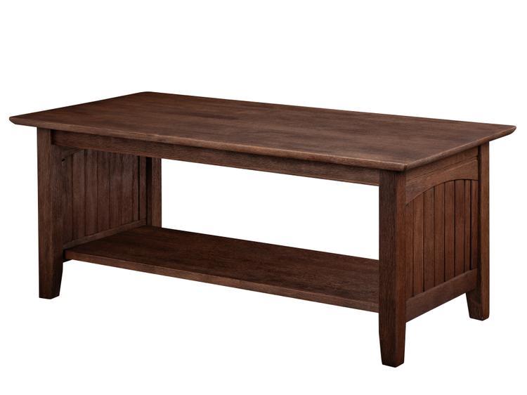 Atlantic Furniture Nantucket Coffee Table Burnt Amber