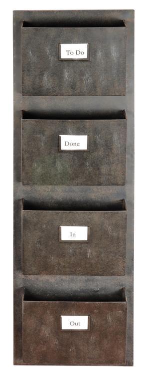 Industrial Metal Four Slot Mailbox