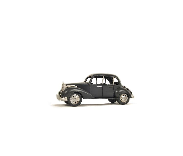 Old Modern Handicrafts 1937 Plymouth P4 Deluxe Black Metal Model Car