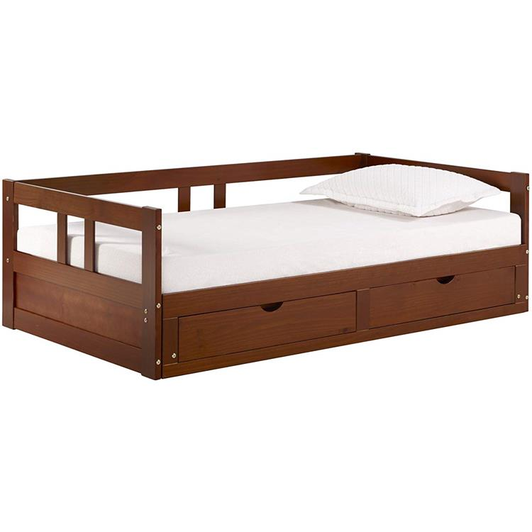 Bolton Furniture Melody Day Bed with Storage, Chestnut [Item # AJME1070]