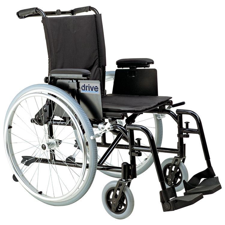 Drive Medical Cougar Ultra Lightweight Rehab Wheelchair [Item # AK518ADA-ASF]